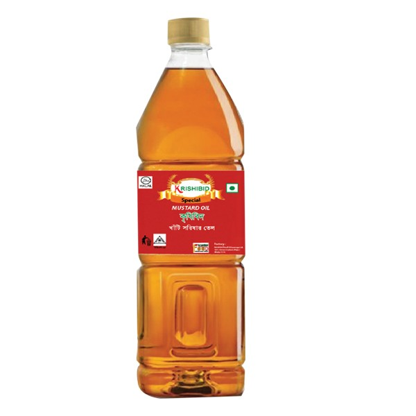 Krishibid Pure Mustard Oil (500 ml)