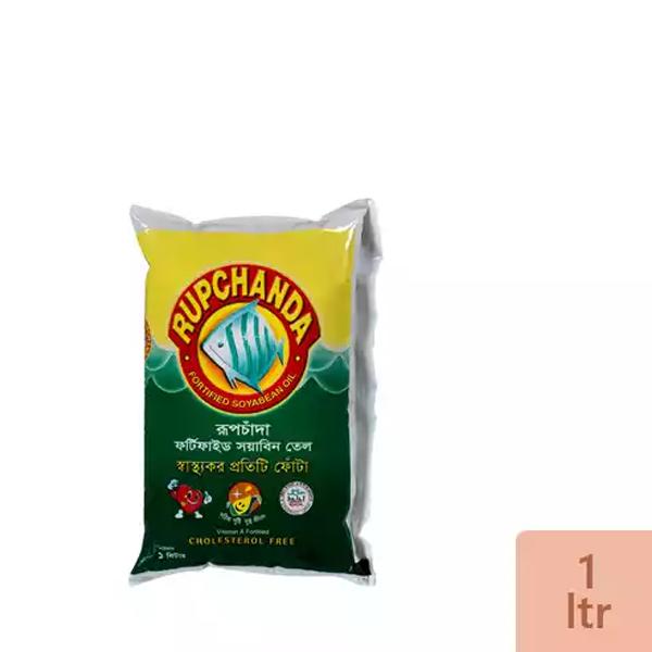 Rupchanda Soyabean Oil (1 Ltr poly)