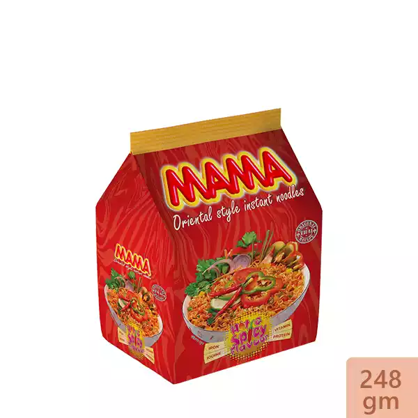 Mama Instant Noodles Hot & Spicy Flavor (248 gm)