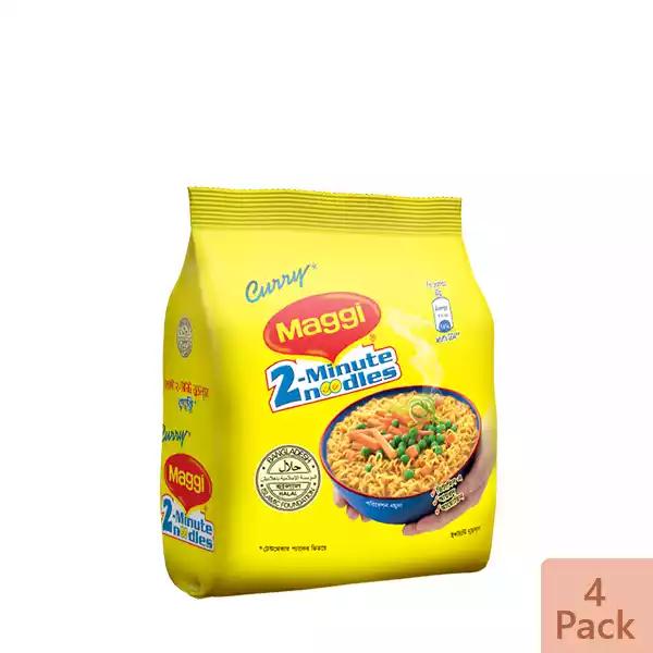 Nestlé MAGGI 2-Minute Noodles Curry 4 Pack