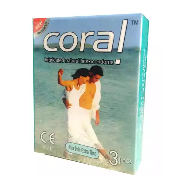 Coral Ultra Thin Extra Time Condom (Width 52 ± 2 mm)