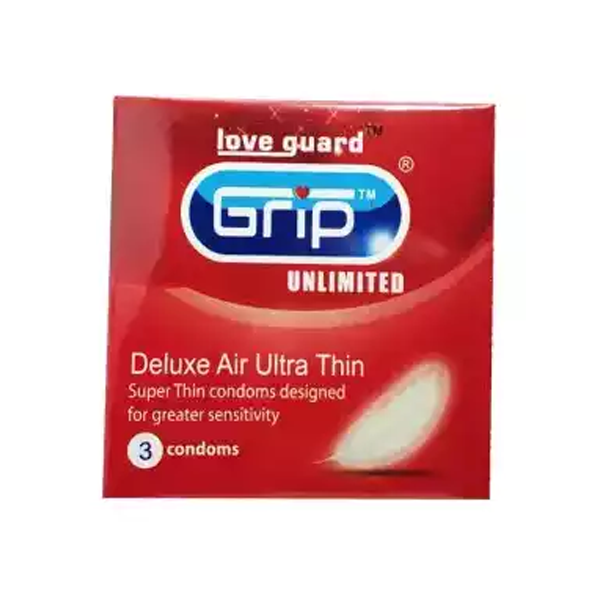 Grip Unlimited Deluxe Air Ultra Thin Condom (Width 52 ± 2 mm)