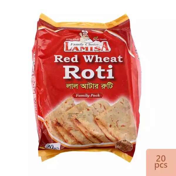 Lamisa Red Wheat Roti 800 gm (20 Pcs)