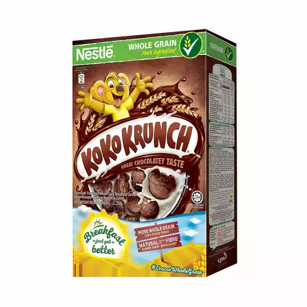Nestlé KOKO KRUNCH Breakfast Chocolate Cereal Box (330 gm)