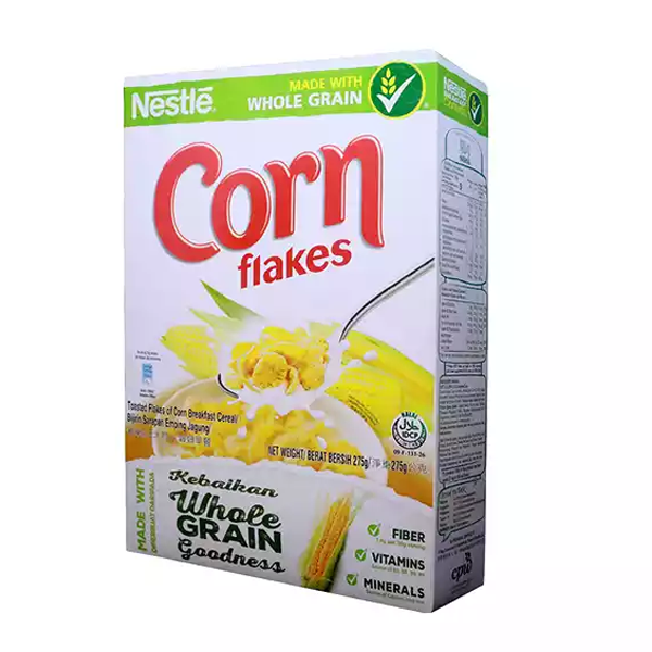 Nestlé Corn Flakes Breakfast Cereal Box (275 gm)
