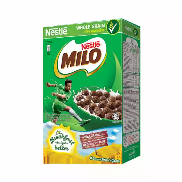 Nestlé MILO Breakfast Chocolate Cereal Box (330 gm)