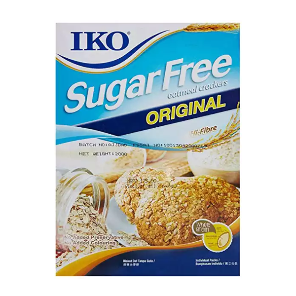 IKO Premium Sugar Free Oatmeal Crackers Original (178 gm)