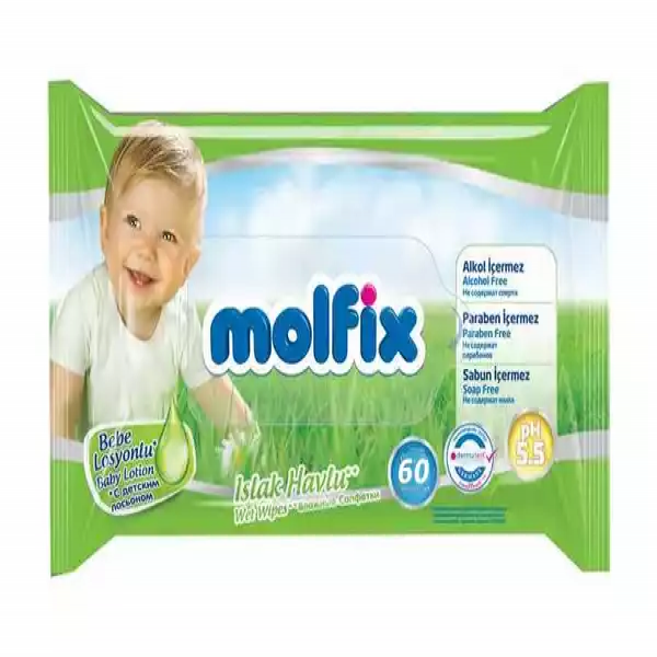 Molfix Baby Lotion Wet Wipes (60 pcs)