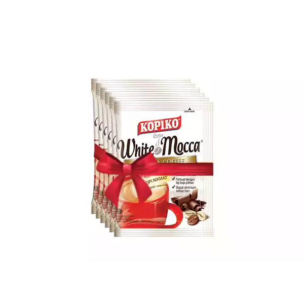 Kopiko White Mocca Mocha Coffee (20 gm x 6)   ( 6 pcs )
