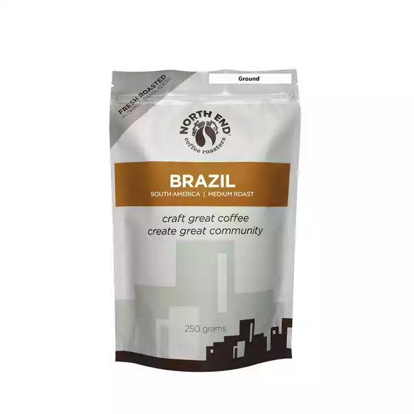 North End Brazil Ground Coffee  (250 gm)
