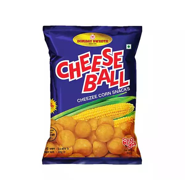 Bombay Sweets Cheese Ball Cheezee Corn Snacks (20 gm)