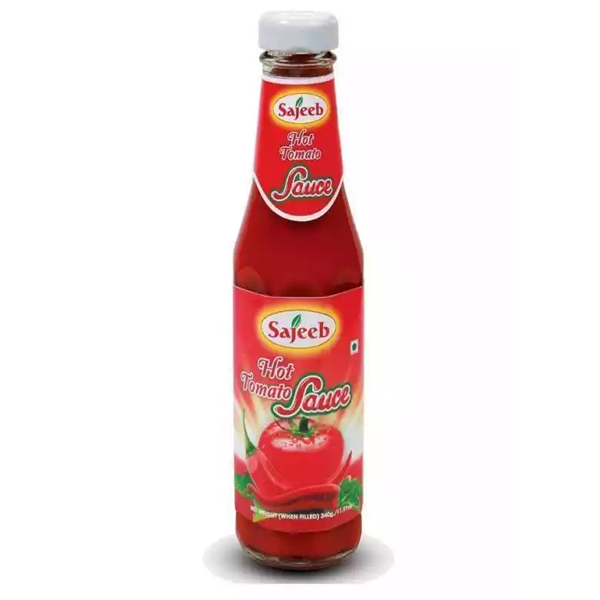 Sajeeb Hot Tomato Sauce  (340 gm)