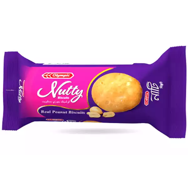 Olympic Nutty Real Peanut Biscuits  (80 gm)