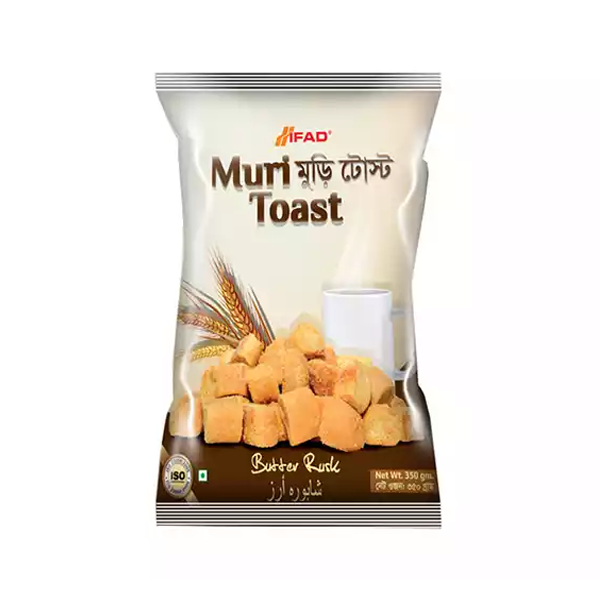Ifad Muri Toast Butter Rusk Biscuit  (350 gm)