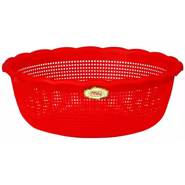 Npoly Vegetable Washing Net (Red) 36 cm