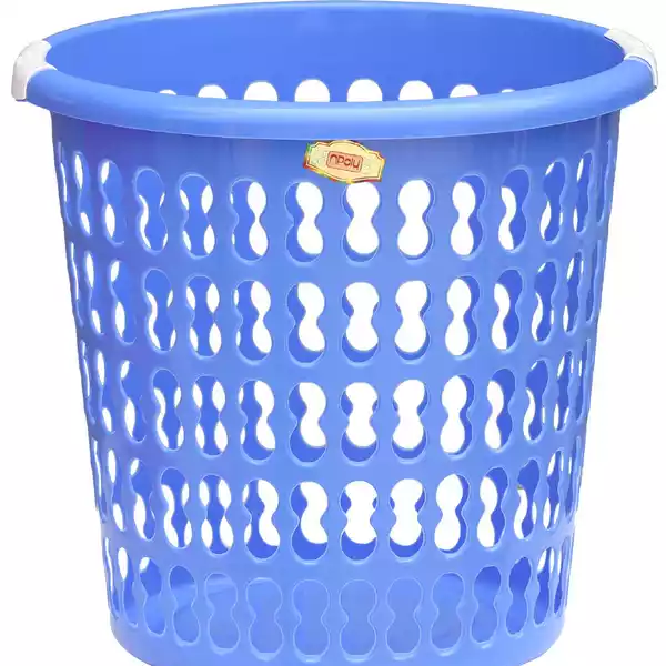Npoly Laundry Basket 15x15 inch (Blue)