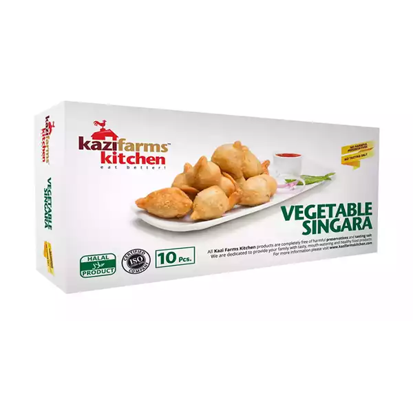 Kazi Farms Kitchen Vegetable Singara  (10 pcs 300 gm)