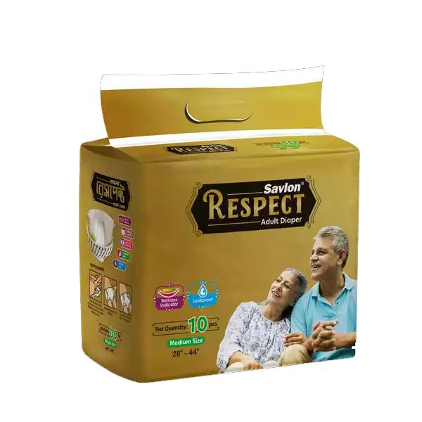 "ACI Savlon Respect Adult Diaper M (28""-44"") 10 pcs"