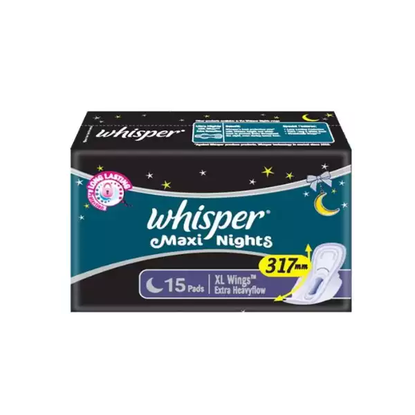 B3 Whisper Maxi Nights Xl Wings  (15 Pads)