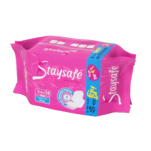 F1 Staysafe Regular Flow Wings (240 mm) Sanitary Napkin (12 pcs)