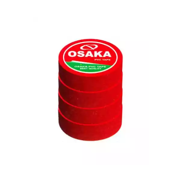 Osaka PVC Tape Red (18 mm) (3pcs)