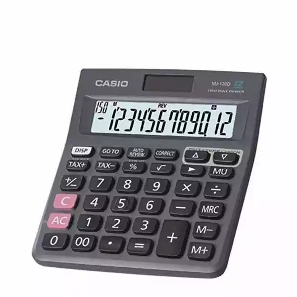 Casio Calculator 12 Digit (MJ-120 D) (1pcs)