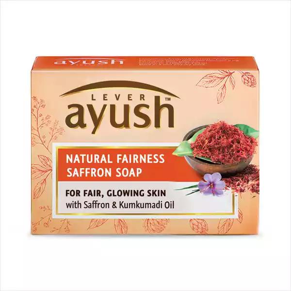 Lever Ayush Soap Bar Natural Saffron (100 gm)