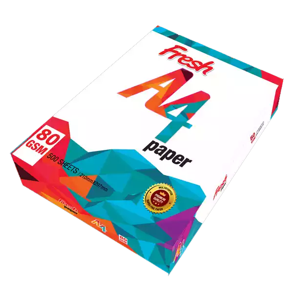 Fresh A4 Size Paper (80 GSM) 1 Rim