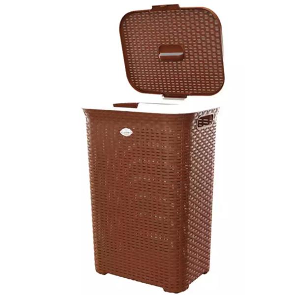 RFL Cane Laundry Brown Basket Big (1pcs)