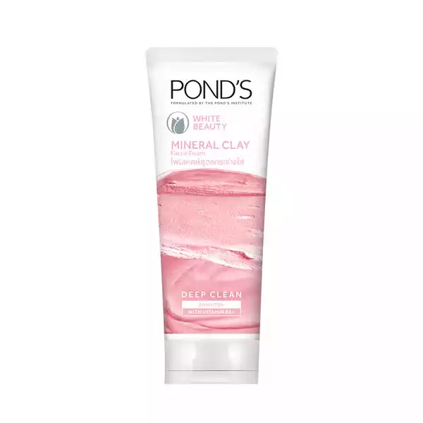 Ponds White Beauty Mineral Clay Instant Brightness Face Wash Foam (90 gm)