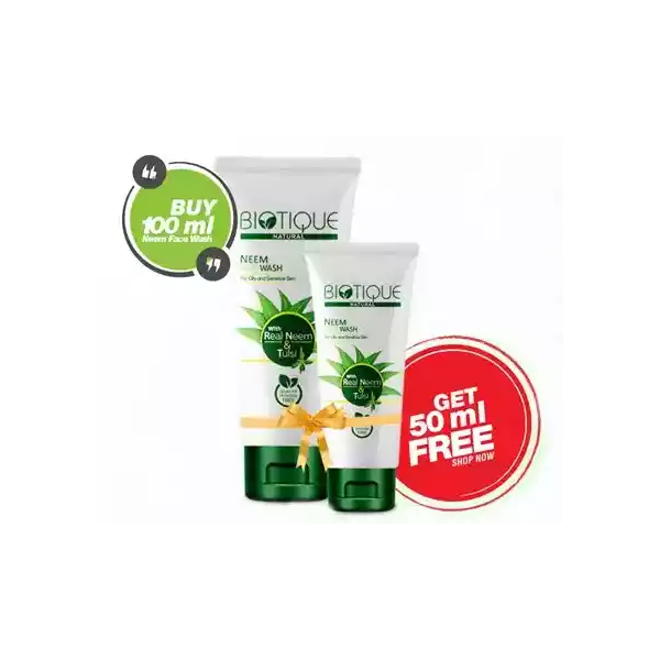 Biotique Natural Neem Face Wash (50 ml Face Wash Free) (100 ml)