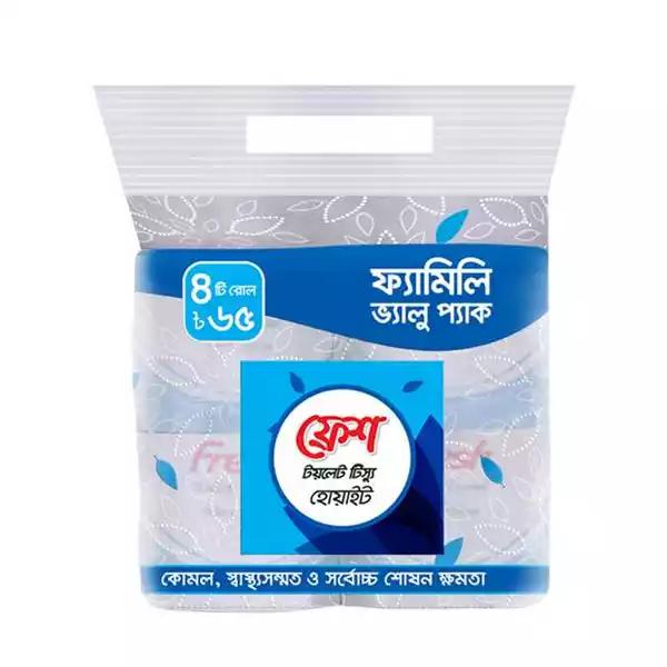 Fresh Toilet Tissue (Family Value Pack) 4 pcs