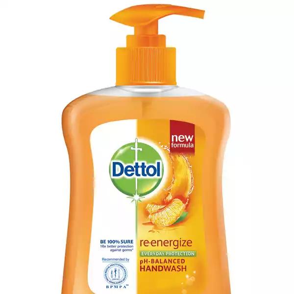 Dettol Handwash Re-energize Liquid Soap Pump (200 ml)