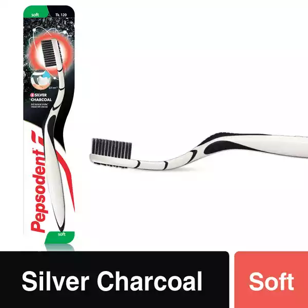 Pepsodent Silver Charcoal Soft Toothbrush (each)