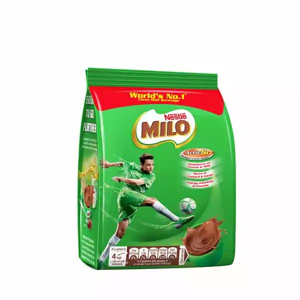 Nestle MILO Activ-Go (Chocolate Flavored) Powder Drink Pouch (250 gm)