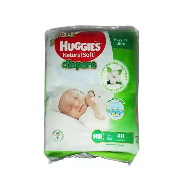 Huggies Baby Diaper Ultra New Born Belt Up to 5 kg (48pcs)
