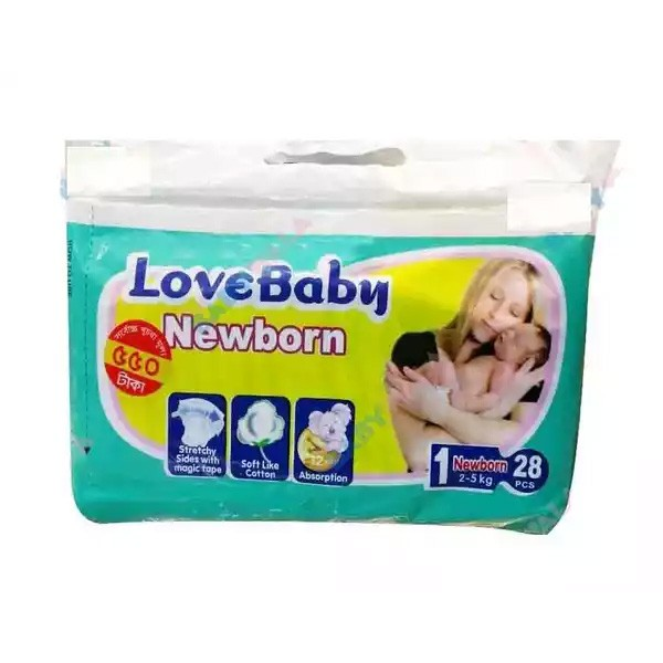Love Baby Super Diaper New Born Belt S 2-5 kg (28pcs)