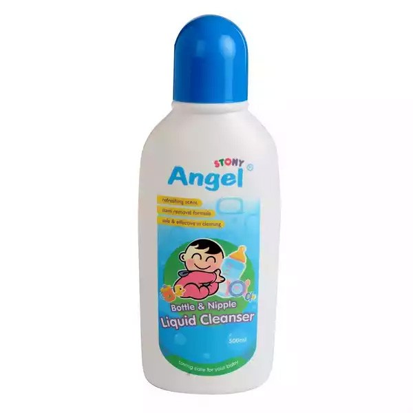 Angel Baby Feeding Bottle & Nipple Cleanser (500ml)