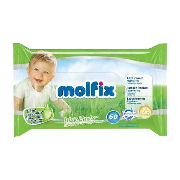 Molfix Baby Lotion Wet Wipes (60pcs)