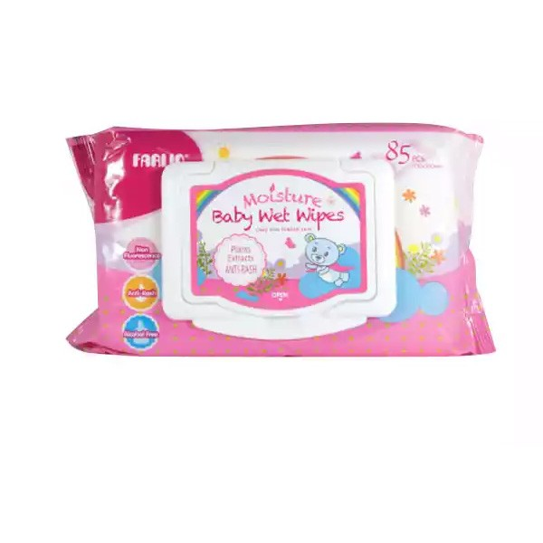 Farlin Baby Moisture Anti Rash Wet Wipes Pink (DT-006A) (85pcs)