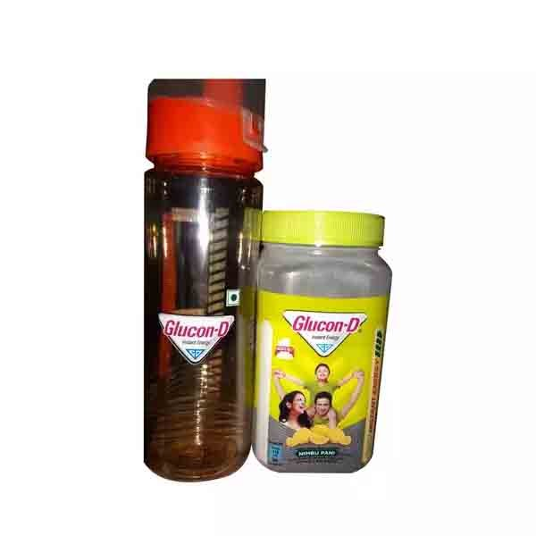 Glucon D Nimbu Energy Glucose Jar (Water Bottle Free) (400 gm)