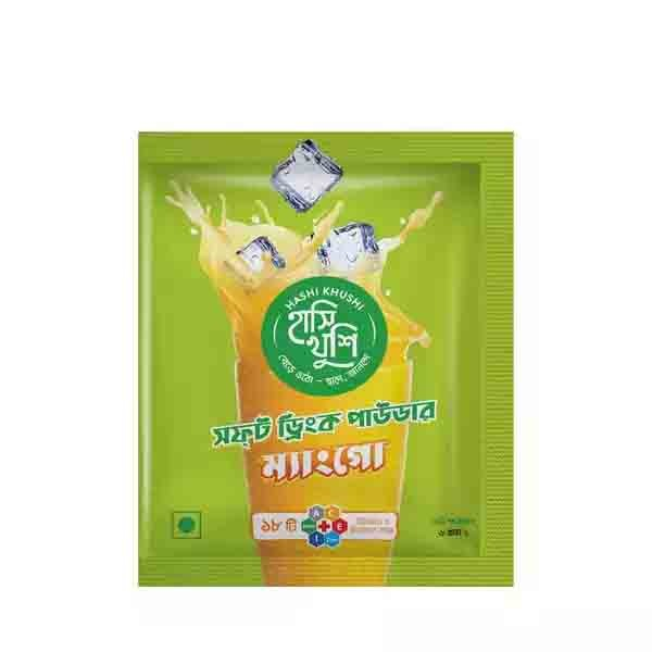 Hashi Khushi Mango Soft Drink Powder (6 gm x 12 pcs) (1 Box)