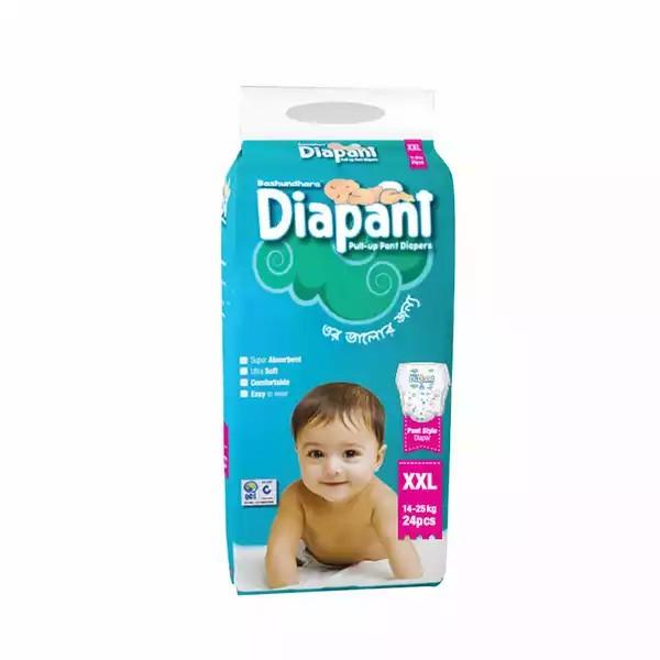 Bashundhara Diapant Baby Diaper XXL 14-25 kg (4pcs)