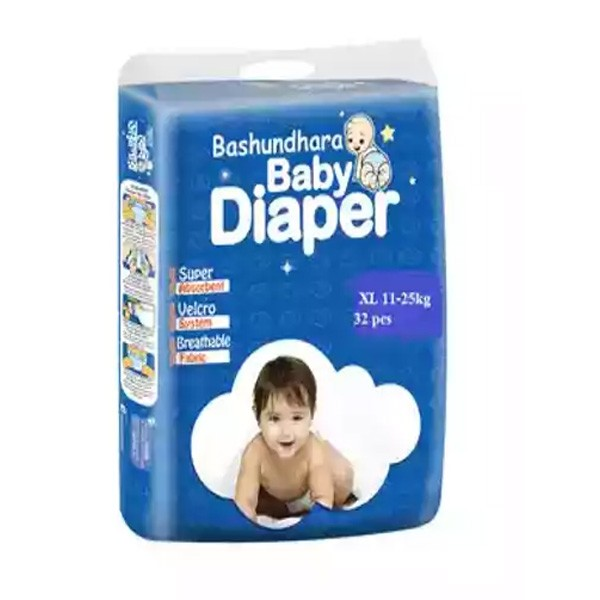 Bashundhara Baby Diaper Belt ST Series XL 11-25 kg (32pcs)