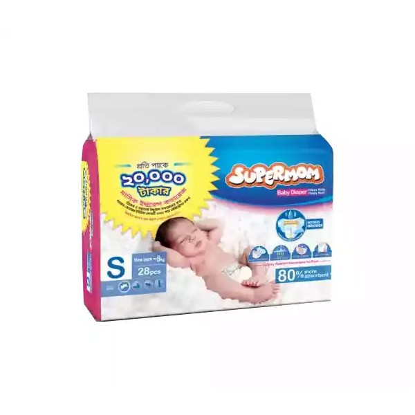 SUPERMOM Baby Diaper Belt S New Born-8 kg (28pcs)