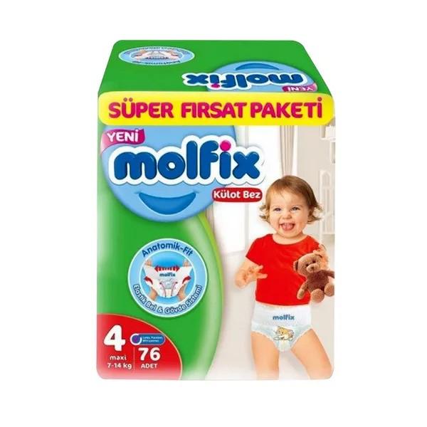 Molfix Baby Diaper Pants Super Pack Maxi 9-14 kg (76pcs)