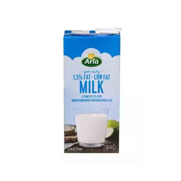 Arla Low Fat 1.5 % UHT Milk (1 ltr)