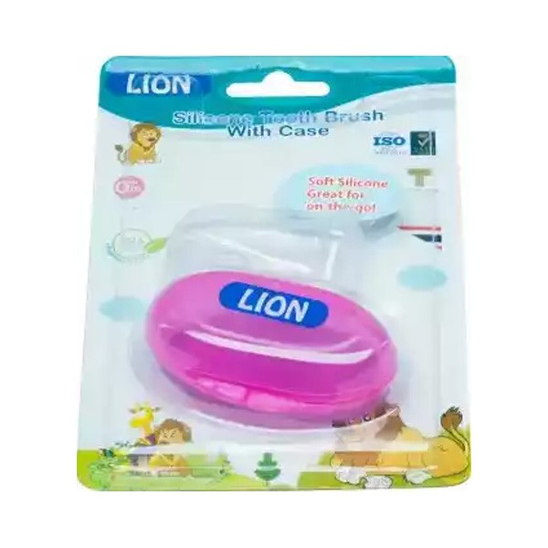 Lion Silicon Tongue & Tooth Brush (1pcs)
