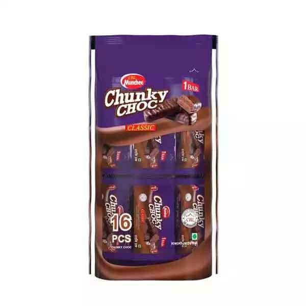 CBL Munchee Chunky Choc 20 gm (Pouch Pack) (16 pcs)