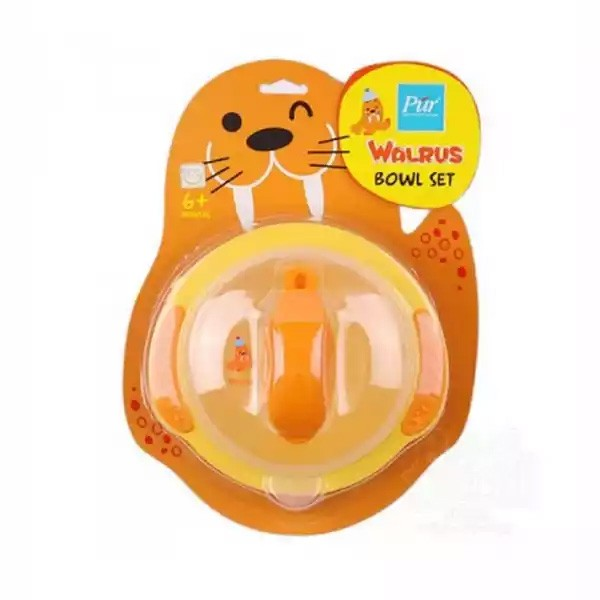 Pur Baby Walrus Bowl Yellow (R.5502) (6 months+) (1 set)